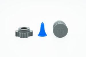 the nanodropper pieces